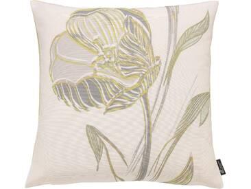 Emotion Textiles Kissenhülle »Strichblume«, grün