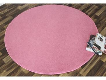 Hanse Home Teppich »Shashi«, 10 (Ø 200 cm), 8,5 mm Gesamthöhe, rosa