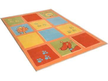 Theko® Teppich »Lustige Haustiere«, 120x180 cm, 14 mm Gesamthöhe, braun