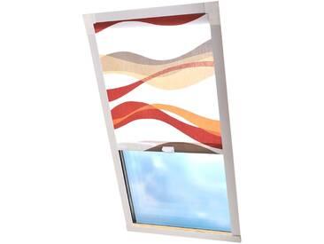 Liedeco Dachfensterrollo »Dekor«, H/B 130/96 cm, weiß