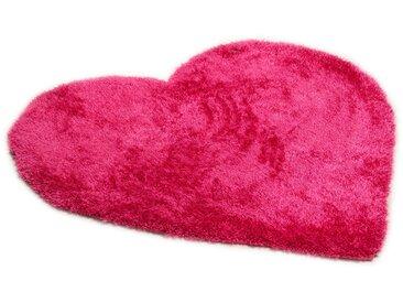 Tom Tailor Kinderteppich »Soft Herz«, 100x100 cm, 35 mm Gesamthöhe, rosa