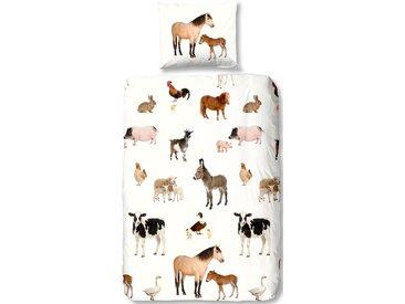 Good Morning Kinderbettwäsche »Farm«, 135x200 cm, bunt, aus reiner Baumwolle