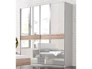 Inosign Schwebetürenschrank, Breite 181 cm, 2-türig, beige, mit Spiegel