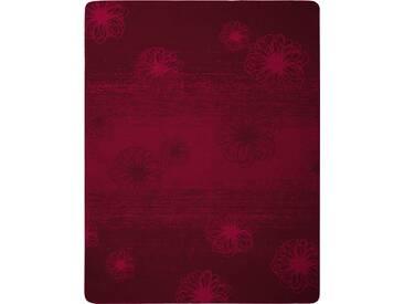Biederlack Wohndecke »Flower Shades«, 150x200 cm, rot