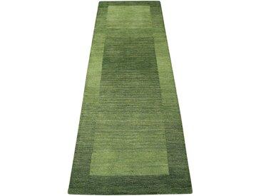Theko Exklusiv Läufer »Gabbeh Super«, 70x240 cm, aufwendige Handarbeit, 9 mm Gesamthöhe, grün