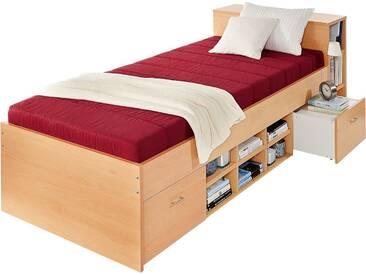 Breckle Bett, rot, 90/200 cm, Härtegrad 2