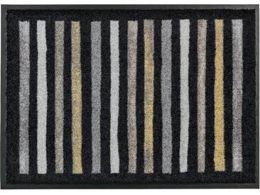 Schöner Wohnen-kollektion Läufer »Broadway Streifen«, 50x150 cm, 9 mm Gesamthöhe, schwarz
