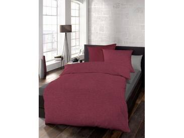 Schlafgut Bettwäsche »Select«, 155x220 cm, waschbar, rot, aus 100% Baumwolle