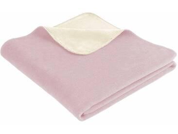 Biederlack Wohndecke »Duo Cotton Trend«, 150x200 cm, waschbar, rosa