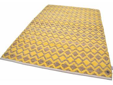 Tom Tailor Teppich »Geometric«, 140x200 cm, 7 mm Gesamthöhe, gold