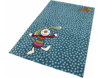 Sigikid Kinderteppich »Rainbow Rabbit«, 133x200 cm, fußbodenheizungsgeeignet, blau