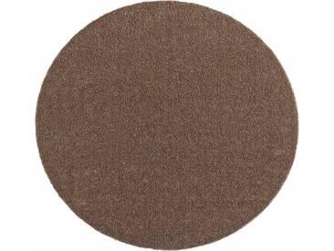 Hanse Home Teppich »Deko Soft«, 9 (Ø 75 cm), 7 mm Gesamthöhe, braun