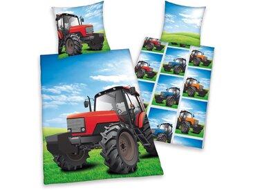 Herding Young Collection Kinderbettwäsche  »Traktor«, 80x80 cm, pflegeleichte Qualität, bunt