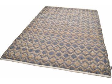 Tom Tailor Teppich »Geometric«, 140x200 cm, 7 mm Gesamthöhe, grau