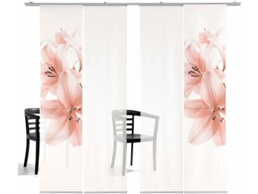 Emotion Textiles Schiebegardine  »Lilie TR«, H/B 260/60 cm, rosa, transparenter Stoff