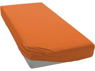 Bassetti Spannbettlaken »Jersey-Elasthan«, 1x180-200/200-220 cm, orange
