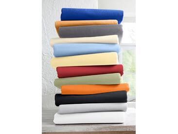 Schlafgut Spannbettlaken »Mako-Jersey«, 1x140-160/200 cm, bügelfrei, gelb, aus 100% Baumwolle