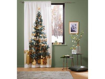 My Home Vorhang  »LED-Tannenbaum«, H/B 230/140 cm, weiß, blickdichter Stoff