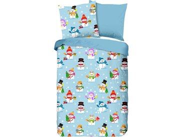 Good Morning Kinderbettwäsche »Snowmen«, 135x200 cm, trocknergeeignet, bunt, aus reiner Baumwolle
