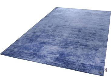 Tom Tailor Teppich »Shine uni«, 65x135 cm, 8 mm Gesamthöhe, blau