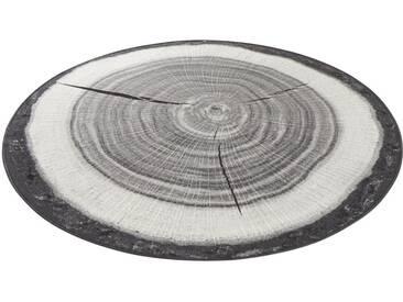 Hanse Home Teppich »Baumstamm«, 10 (Ø 200 cm), 6 mm Gesamthöhe, grau