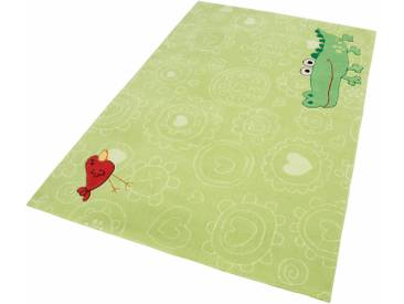 Sigikid Kinderteppich »Happy Zoo Crocodile«, 70x140 cm, 10 mm Gesamthöhe, grün