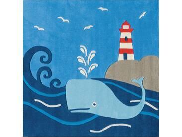 Arte Espina Kinderteppich »Spirit 3096«, 130x130 cm, 17 mm Gesamthöhe, blau