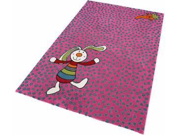 Sigikid Kinderteppich »Rainbow Rabbit«, 133x200 cm, fußbodenheizungsgeeignet, rosa