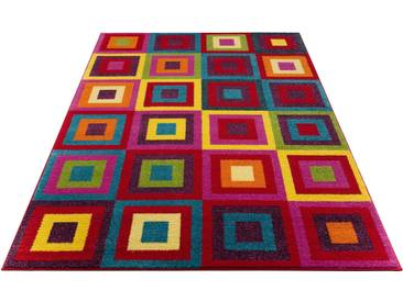 My Home Selection Teppich »Jorina«, 200x200 cm, 12 mm Gesamthöhe, rot