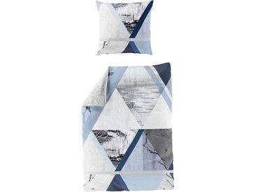 Bierbaum Wendebettwäsche »Cold blue«, 155x220 cm, blau