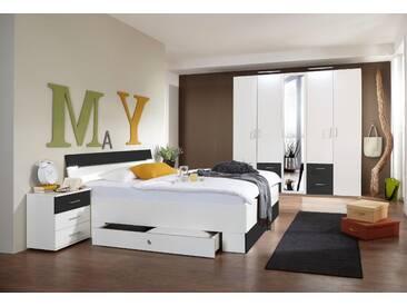 Wimex  Schlafzimmer-Set  »Freiburg«, mit Spiegeln und Schubkästen, grau, Set aus Schrank, Bett und 2 Nachttischen