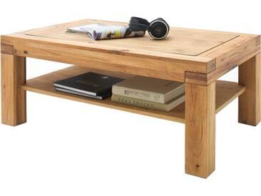 MCA Furniture Couchtisch Alisa 58833GEW aus Wildeiche massiv Ablage massiv geölt für Ihr Wohnzimmer