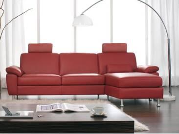 Dietsch Donna Paolo Nero Sofa 2 sitzig mit klappbaren Longchair Armteil Sitzqualität Fußvarianten und Bezug wählbar