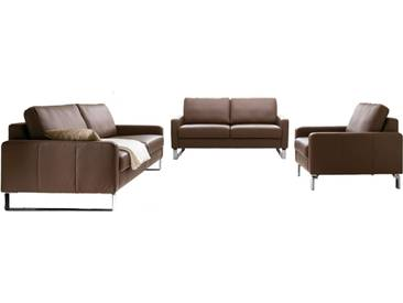 Candy Sofagarnitur Intermezzo 3-teilig bestehend aus 3-Sitzer, 2-Sitzer und Sessel in Stoff -oder Echtleder erhältlich