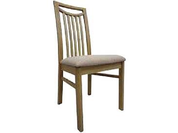Dkk Klose Kollektion Stuhl Take 5 mit Holzrücken aus Längsstreben und Griff für Küche oder Speisezimmer mit gepolstertem Sitz mit Schaumstoff oder NOSAG-Wellenpolster erhältlich in großer Gestellauswahl und Bezugsvielfalt Stoff oder Leder