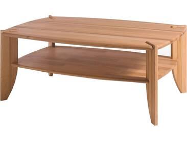 MCA Furniture Couchtisch Tamme 58818KB2 aus Kernbuche massiv Ablage massiv geölt Stollen massiv geölt für Ihr Wohnzimmer