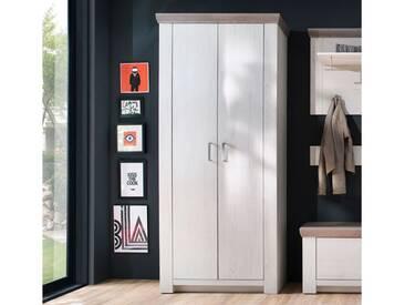MCA furniture Garderobenschrak Bozen in Pinnie Aurello Nachbildung und Absetzung Eiche Nelson Nachbildung