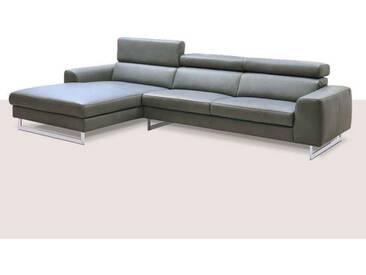 Schillig Willi Ecksofa AleXx Plus 22751 bestehend aus Sofa groß und Longchair tief mit Kopfstützenverstellung sowie mit der Seitenteilform C und glänzender Metallkufe vielfältige Echtleder- & Stoffauswahl