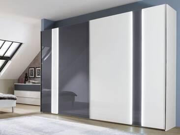 Nolte Arago 8 Schwebetürenschrank Kleiderschrank Polarweiß mit 2 Glasfronten wählbar