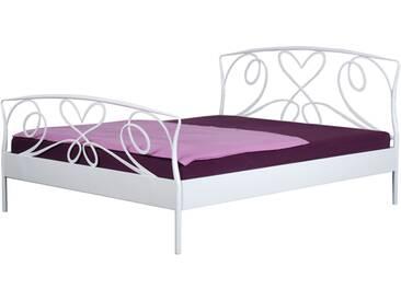 Neue Modular Punto Toscana Bett aus Metall in weiß Liegefläche ca. 180x200 cm