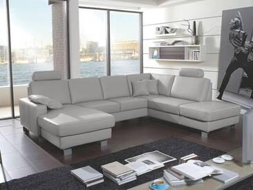 Polinova Eckkombination U-Form Amigo Canape 2,5-Sitzer 1,5-Sitzer Kombielement inklusive 2 Kopfstützen in Echtleder Couch spiegelverkehrt lieferbar Ausführung wählbar