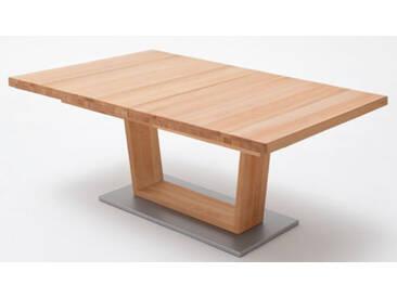 MCA furniture CAN14A_Cantania A oder CAN18A_Cantania A  Esstisch rechteckig Tischplatte aus Massivholz mit durchgehender Lamelle und V-Fußgestell  ausziehbar in drei Holzausführungen und in zwei verschiedenen Größen wählbar