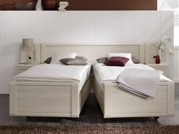 Nolte Möbel Limone Ausschwenkbares Doppelbett schwebe Optik wahlweise mit Nachtschränken