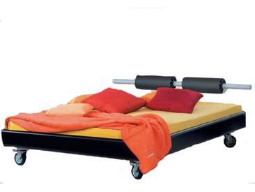 Neue Modular Primolar Colorado Bett mit Kopfteil Vado auf Rollen Liegefläche 180x200 cm