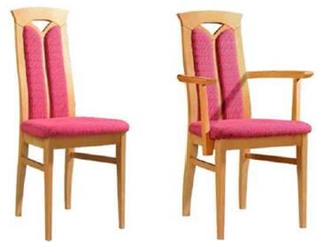 Dkk Klose Kollektion Cristal Stuhlsystem Polsterstuhl mit geteiltem Rückenpolster für Speisezimmer Esszimmerstuhl Ausführung Sitzkomfort Bezug und Holzausführung wählbar