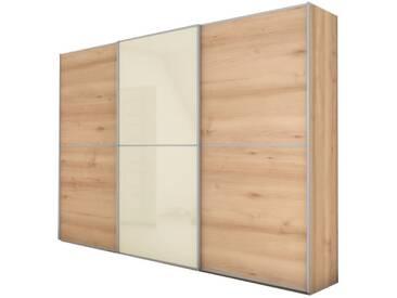 Nolte Attraction Schwebetürenschrank Schlafzimmer Ausführung 2A Frontmix Dekor mit Glas / Spiegel mit vertikaler Teilung und 3 waagerechten Sprossen Ausführung wählbar