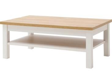 MCA Furniture Brixen Couchtisch T65  ca. 114 x 70 cm für Ihr Wohnzimmer Wohnzimmertisch im modernen Landhausstil in Pinie Aurelio Optik mit Absetzung in Grandson oak Nachbildung