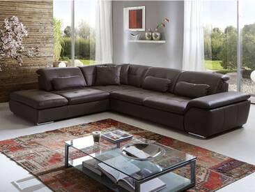 Polinova Eckkombination Imago L 3-Sitzer Spitzecke 1,5-Sitzer mit Anstellhocker inklusive stufenloser Rückenverstellung in Echtleder Ausführung wählbar Couch spiegelverkehrt lieferbar