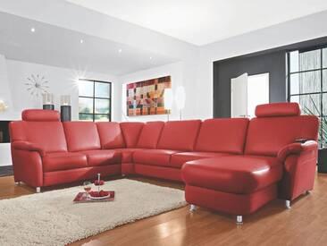 Polinova Eckkombination U-Form Tavira L 2-Sitzer Eckelement 2,5-Sitzer Canape inklusive 2 Kopfstützen in Echtleder Couch spiegelverkehrt lieferbar Ausführung wählbar
