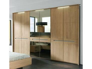 Thielemeyer Casa Massivholz Kleiderschrank Drehtürenschrank mit Passepartout Rahmen und Spiegel